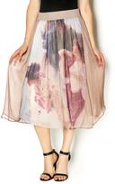 Aratta Silk Midi Skirt