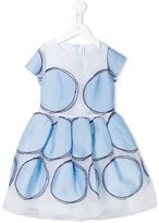Simonetta organza polka dot dress