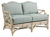 The Well Appointed House Chippendale Loveseat with Rattan Frame - Variety of Finishes Available