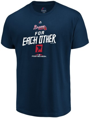 Majestic Youth Navy Atlanta Braves 2018 Postseason Authentic Collection T-Shirt