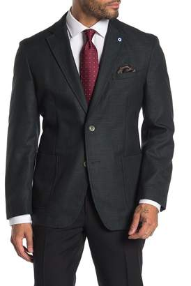 Ben Sherman Solid Two Button Notch Collar Sport Coat