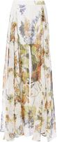 Haute Hippie Chance Floral Maxi Skirt