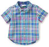 Ralph Lauren Baby Boys 6-24 Months Madras-Plaid Short-Sleeve Shirt