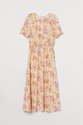 H&M Ruffle-trimmed Dress - Yellow