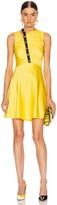 Versace Sleeveless Mini Dress in Yellow & Black | FWRD