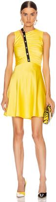 Versace Sleeveless Mini Dress in Yellow & Black   FWRD