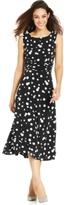 Jessica Howard Petite Polka-Dot A-Line Dress