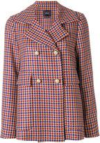 Odeeh houndstooth tweed blazer