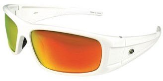 Yachter's Choice 43073 Striper Polarized Sunglasses with Red Mirror Lenses & White Frame