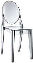 The Well Appointed House Contemporary Smoked Clear Acrylic Dining Side Chair