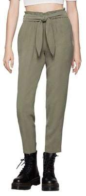 BCBGeneration Front-Tie Shirred Pants