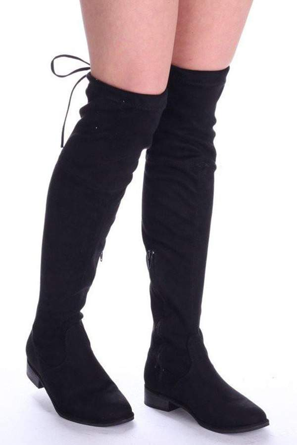 c8d0a28eafd Faux Suede Boots Over Knee - ShopStyle UK