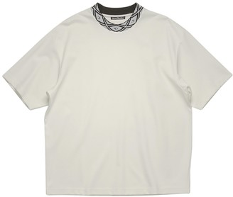 Acne Studios Classic Face T-shirt Optic White