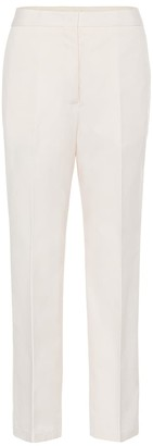 Jil Sander High-rise cotton straight pants