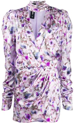 Filles a papa floral-print wrap-effect dress