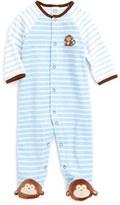 Little Me Infant Boy's Monkey Stripe Footie