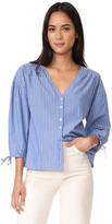 Madewell Morningview Tie Sleeve Shirt