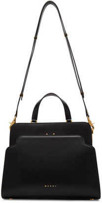 Marni Black Trunk Reverse Top Handle Bag