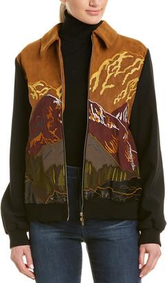 Stella McCartney Embroidered Silk-Lined Jacket