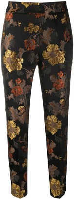 Christian Pellizzari Baroque Brocade Slim Trousers