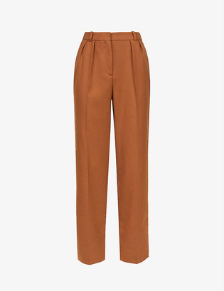 Claudie Pierlot Prussebis straight high-rise crepe trousers