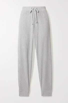 Alo Yoga Muse Ribbed Fleece Sweatpants - Light gray