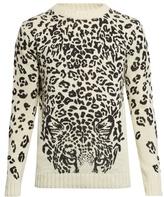 Saint Laurent Leopard-print Crew-neck Sweater
