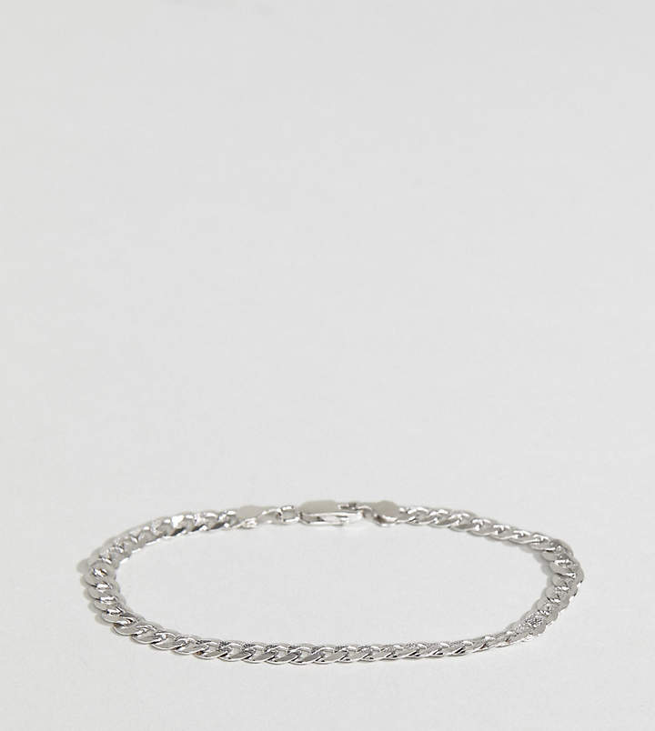 Asos Designb London DesignB curb chain bracelet in sterling silver exclusive to