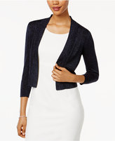 Jessica Howard Glitter Knit Shrug