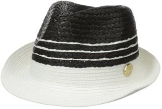 La Fiorentina Women's Straw Hat with Stripes