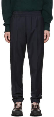 Acne Studios Navy Wool Mohair Ryder Trousers