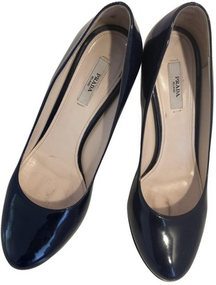 Prada Blue Patent leather Heels