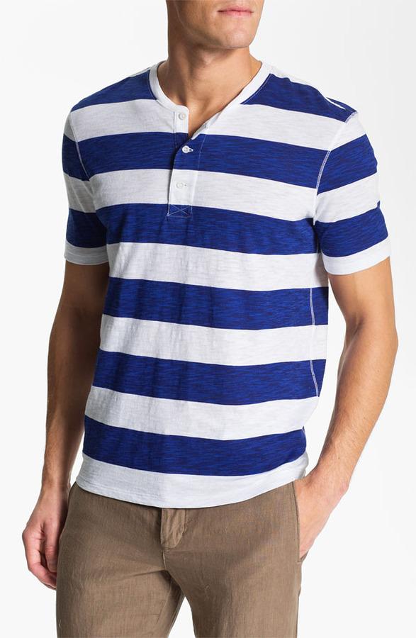 Vince Slub Stripe Henley T-Shirt