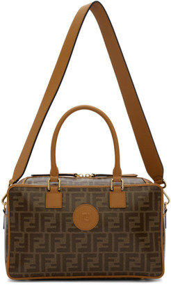 Fendi Brown Small Forever Boston Bag