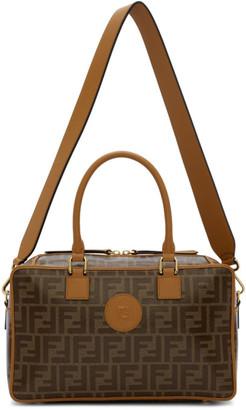 Fendi Brown Small Forever Boston Bag