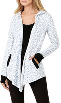 DKNY Hooded Open Front Jacket