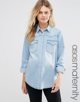 Asos Denim Boyfriend Shirt in Myrtle Lightwash