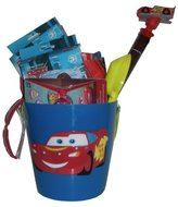 Disney Pixar Cars Ultimate Swim Basket - Includes Sand Bucket, Beach Towel, Inflatable Swim Toys, Goggles, and More!