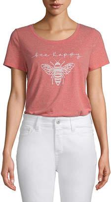 ST. JOHN'S BAY Tall Womens Crew Neck Short Sleeve Graphic T-Shirt