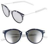 Christian Dior Men's 48Mm Round Sunglasses - Blue Matte White