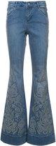 Alice + Olivia Alice+Olivia studded detail flared jeans
