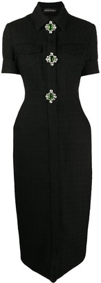 David Koma Knitted Embellished Dress