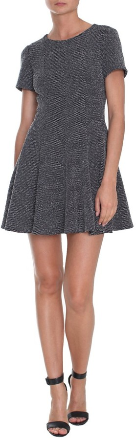 Tibi Birdeye Knit Short Sleeve Dress