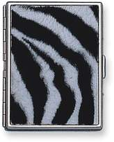 Gifts & More Silver-tone Zebra Print Cigarette and Cards Case (Holds 9-100mm)