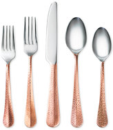 Cambridge Silversmiths Indira by Jessamine Hammered Copper 20-Pc. Flatware Set, Service for 4
