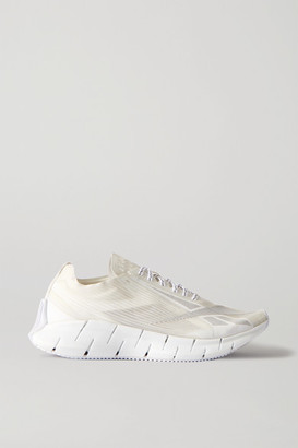 Reebok Zig 3d Storm Mesh And Rubber Sneakers - White