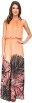 Maggy London Wild Palm Printed Chiffon Maxi
