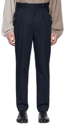 Maison Margiela Navy Side Strap Trousers