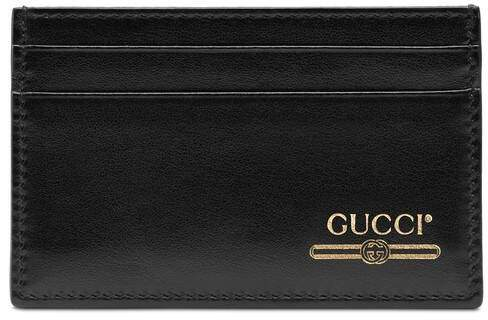 e365b15026 Leather card case with logo