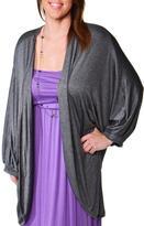 24/7 Comfort Apparel Plus-Size Dolman-Sleeve Shrug
